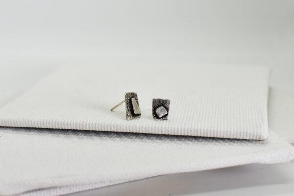 Cercei asimetrici din argint