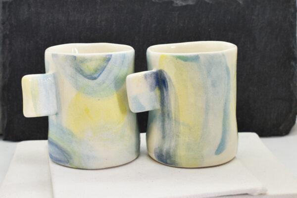 """Set de 2 cesti din ceramica """"Where is my mind"""""""
