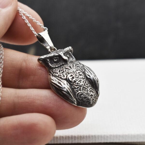 "Pandantiv din argint ""Royal Owl"""