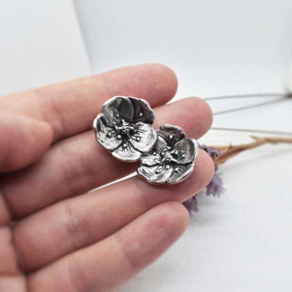 """Cercei din argint """"Flower Extravaganza"""""""