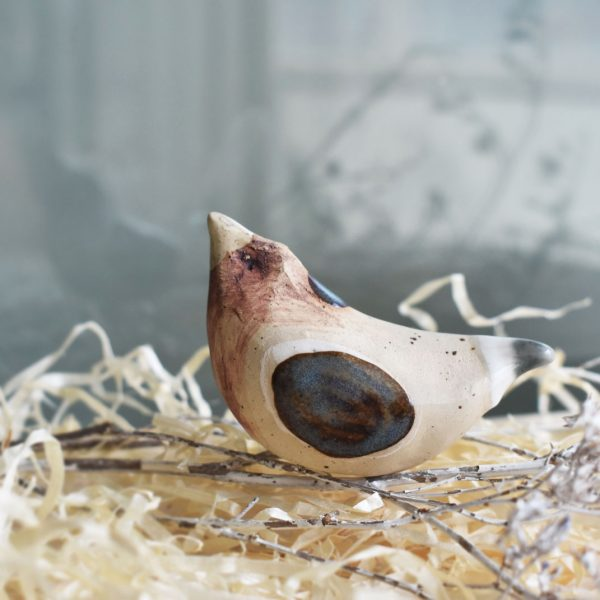 "Decoratiune din ceramica ""Vrabia albastra"""
