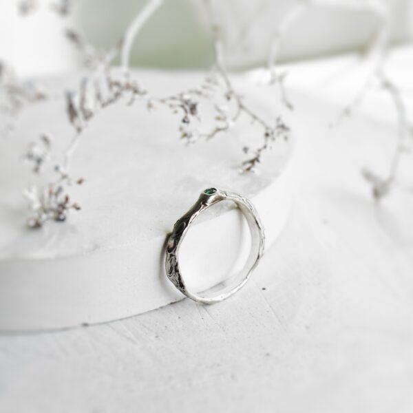 """Inel de logodna cu smarald """"Organique"""""""