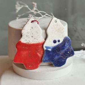 """Ornament din ceramica """"Bradut"""" Mare (mai multe culori)"""