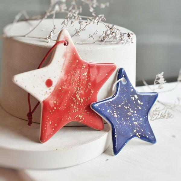"Ornament din ceramica ""Steluta"" Mare (mai multe culori)"