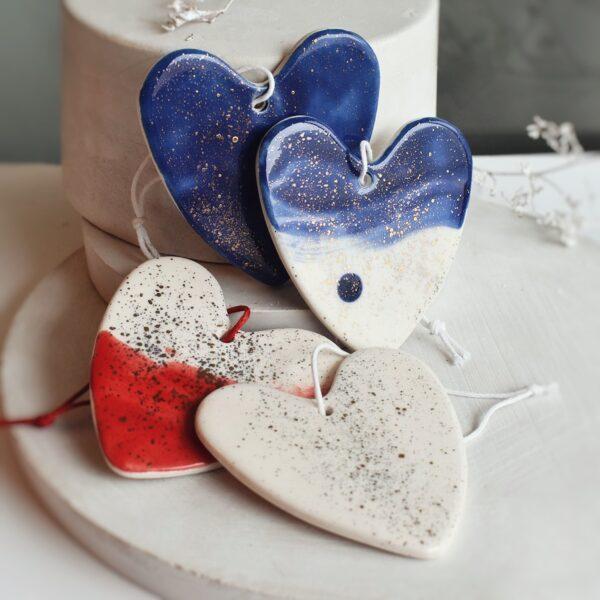 "Ornament din ceramica ""Inima"" Mare (mai multe culori)"