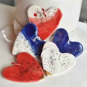 """Ornament din ceramica """"Inima"""" Mica (mai multe culori)"""