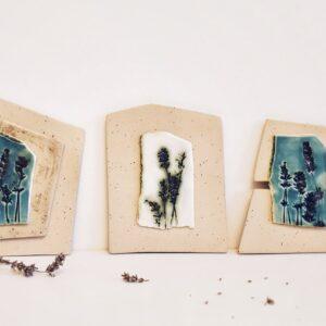 "Decoratiuni de perete din ceramica ""Lavanda"""