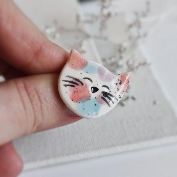 "Martisor – brosa ""Portret de pisica: Happy"""